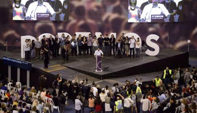 Pablo Iglesias, durante un evento de Podemos.