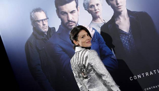 Foto del a actriz Bárbara Lennie, en la premiere de su película 'Contratiempo'.