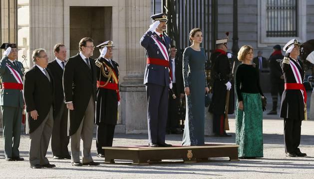 Felipe VI en la ceremonia de la Pascua Militar en el Palacio Real.