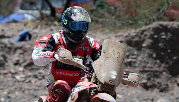 Foto del piloto español Joan Barreda en la cuarta etapa del Rally Dakar 2017.