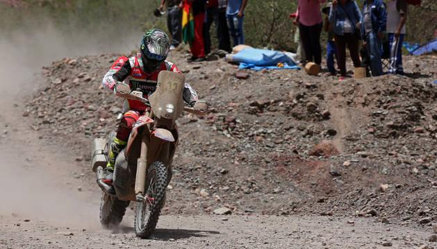 Joan Barreda durante una etapa del Rally Dakar