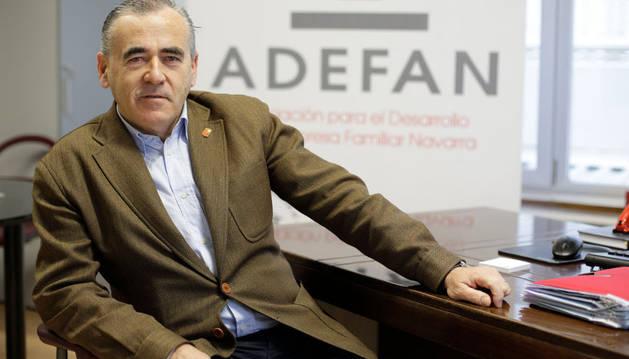 Francisco Esparza Unsain, presidente de la Asociación para el Desarrollo de Empresas Familiares de Navarra (Adefan)
