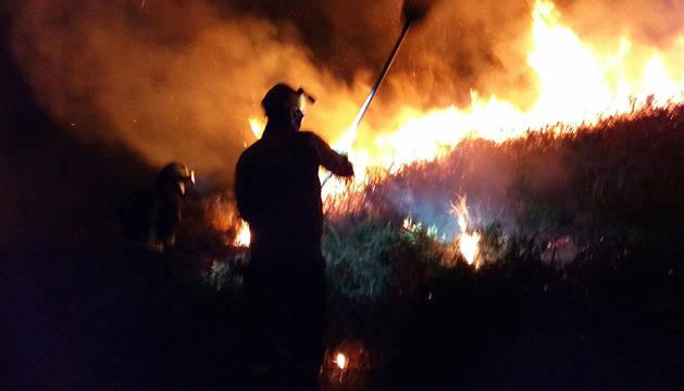 Declarado un incendio forestal este sábado en Azpilicueta
