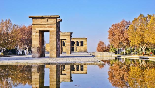 Imagen del templo de Debod de Madrid.