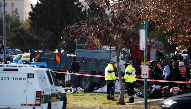 Al menos 10 heridos arrollados por un camión en Jerusalén