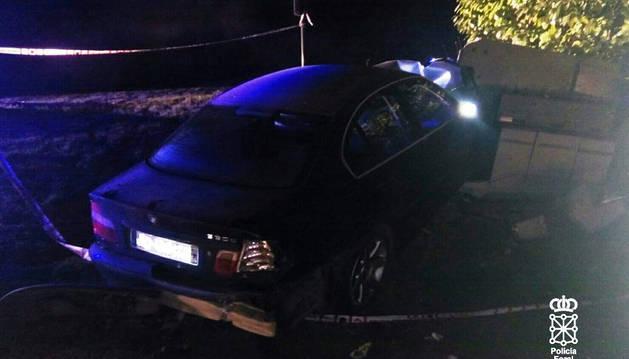 Imagen de un accidente que ha provocado el apagón en Urdax.