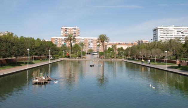 Imagen del Parque del Oeste de Málaga, donde ha aparecido el cadáver.