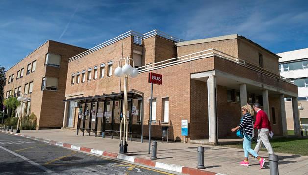 Vista del bloque del pabellón sur del hospital García Orcoyen.