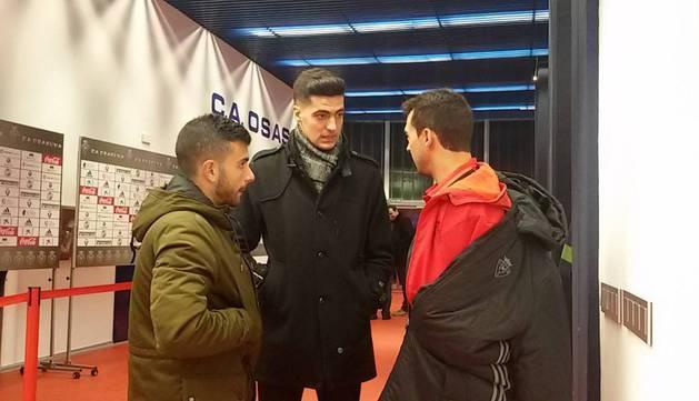 Mikel Merino, el día que estuvo en El Sadar a final de año para ver el Osasuna-Granada.