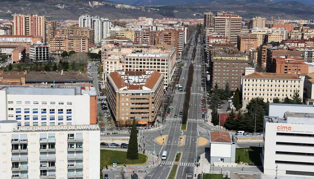Imagen de la avenida Pio XII, una de las principales arterias rodadas de la ciudad