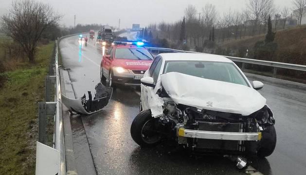 Imagen del estado en el que ha quedado el vehículo tras el accidente.