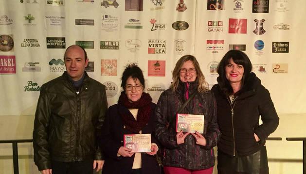 Imagen desde la izda., Javier Landarech, María García, Ainhoa Yabar Castillo y Raquel Pérez Garasa.