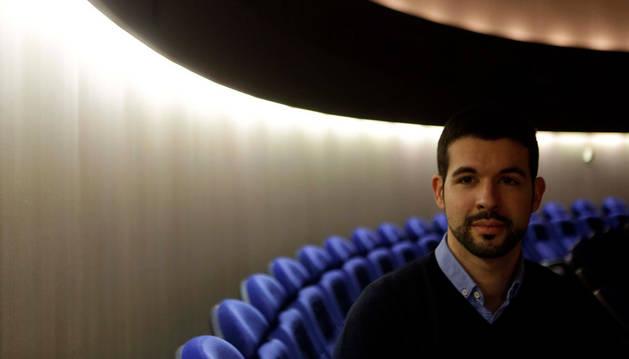 Fernando González Zalba, fotografiado en el Planetario.