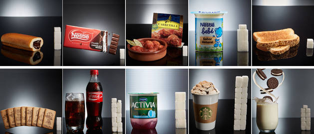 Algunos de los productos que han analizado los promotores de la iniciativa sinAzucar.org.