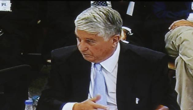 Foto de la declaración del expresidente de la patronal madrileña CEIM Arturo Fernández, en el juicio de las 'black'.