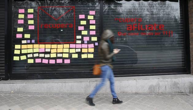 Local alquilado en la calle Ferraz por la plataforma crítica RecuperaPSOE.