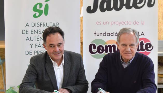 Paco Córdoba, director general de Vegetales Línea Verde, y Alfredo Cebrián, portavoz de Villa Javier