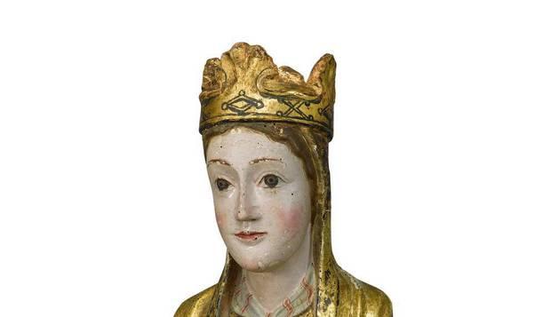 Imagen de la talla de la Virgen de Salinas de Ibargoiti.