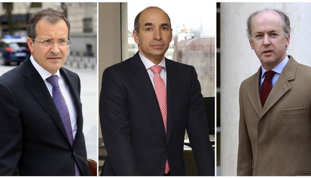 Fotos de archivo de Antonio Fornieles (i); Manuel Sánchez Ortega (c), y Felipe Benjumea (d).