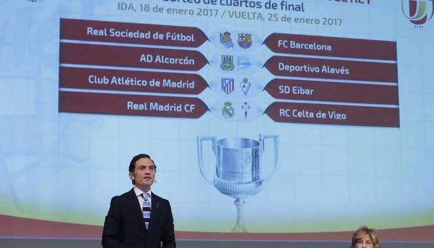 Vista de los emparejamientos definitivos de los cuartos de final de la Copa del Rey.
