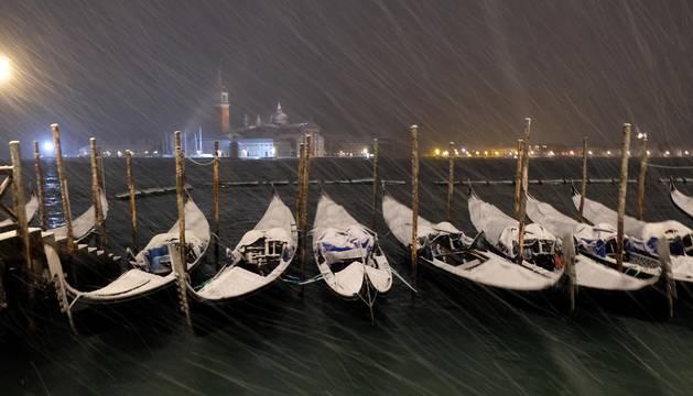 La nieve cubre Venecia
