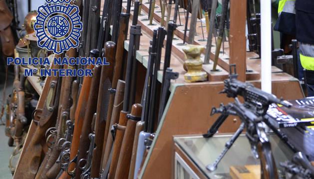 Imagen de las armas incautadas