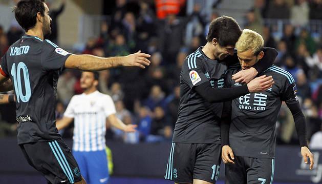 La Real no encuentra rival en el triunfo en La Rosaleda (0-2)