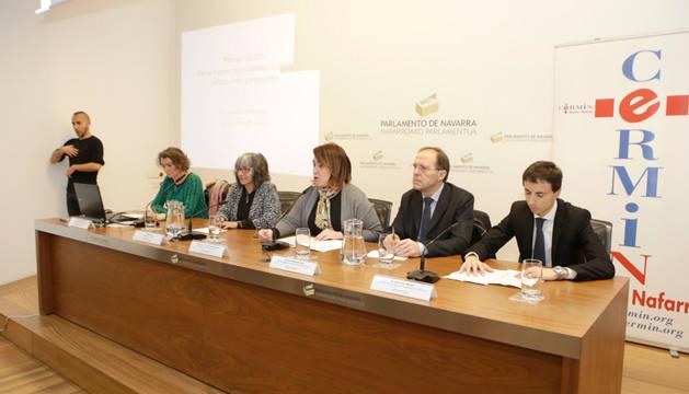 En el Parlamento de Navarra, este martes