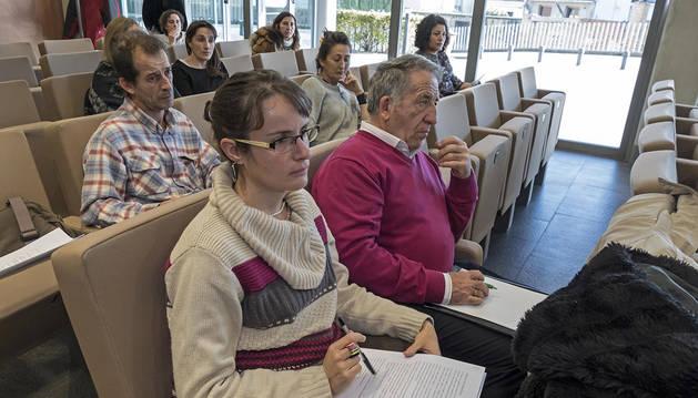 La sesión se celebró en el salón de actos de la Mancomunidad de Montejurra.