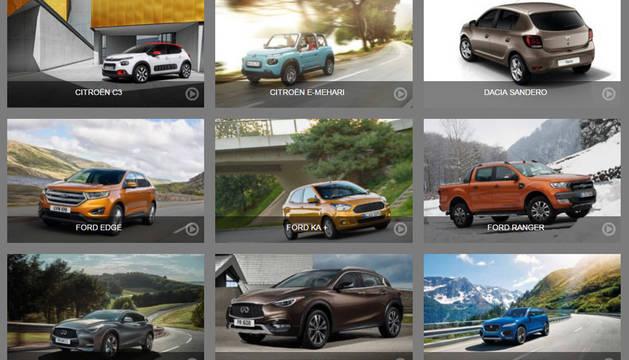 Varios de los coches por los que se puede votar.