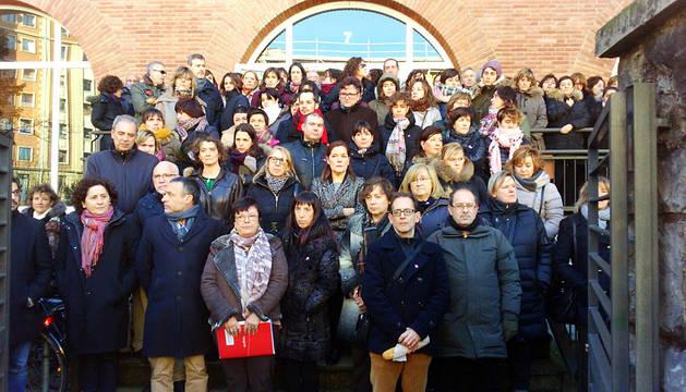 La concentración en González Tablas, este martes