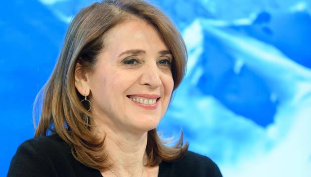Imagen de la Directora Financiera del Alphabet, Ruth Porat, durante el primer día del Foro Económico Mundial en Davos