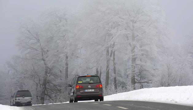 Miércoles helador, con máximas bajo cero en toda Navarra