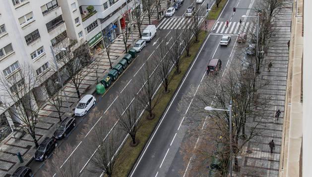 La avenida de Pío XII, en una imagen tomada la semana pasada.