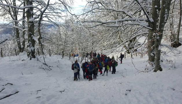 Excursión del club montañero de Estella.