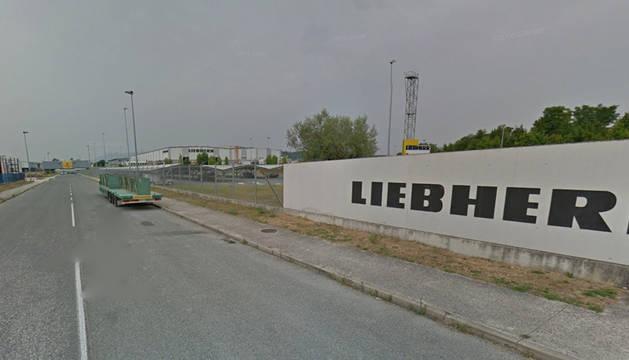 Imagen de la empresa Liebherr Industrias Metálicas, en el polígono Agustinos de Pamplona.