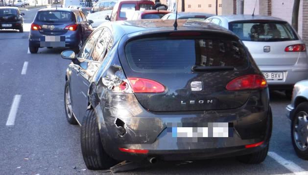 Imagen de la colisión en la calle Ochagavía de Pamplona