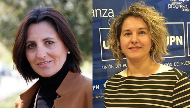De izda. a dcha.Alicia Lasheras y Gloria González.