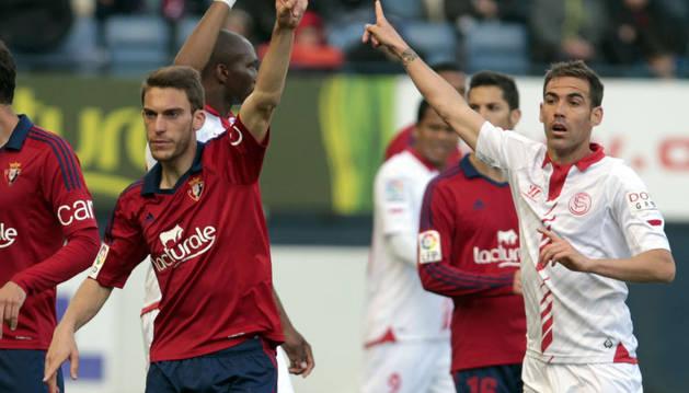 Imagen del Osasuna-Sevilla disputado en 2014 en El Sadar