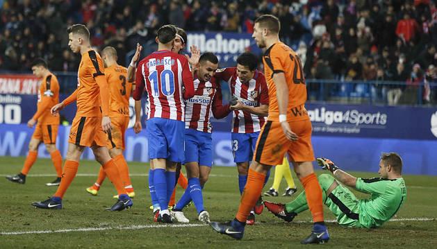 Golpe de autoridad del Atlético en la Copa (3-0)