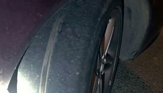 Sancionado por circular con las ruedas lisas en Cárcar y dar positivo en tres drogas
