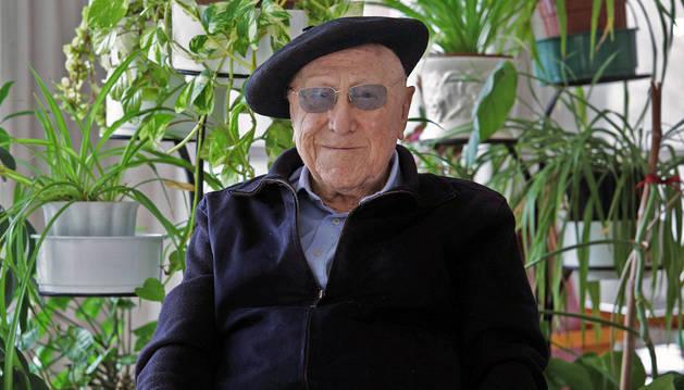 Pedro Munárriz Ollo, 96 años, esta semana en la Casa de Misericordia de Pamplona.