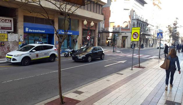 Imagen de la avenida Zaragoza en Tudela.