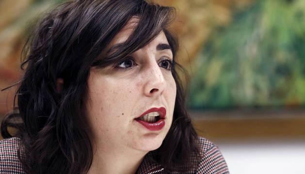 La secretaria general de Podemos en Navarra, Laura Pérez.