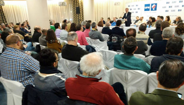 Esparza, durante el Consejo Político de UPN en Tudela.