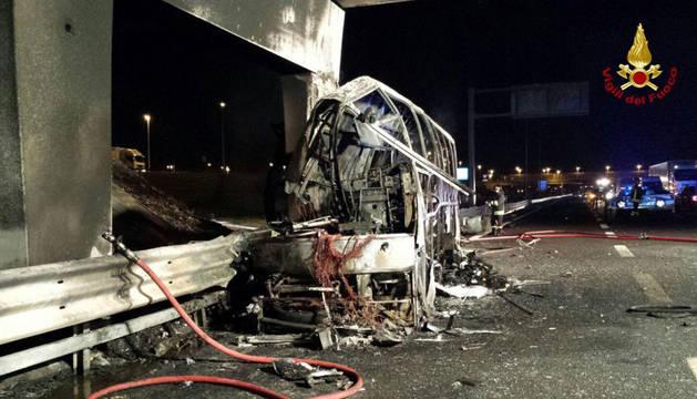Accidente de autobús en Verona.
