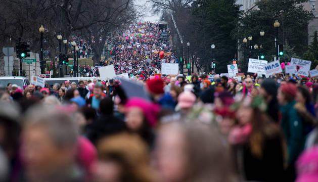 La 'Marcha de las mujeres' en Washington.