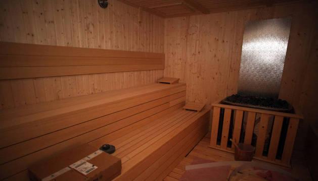 Una sauna.