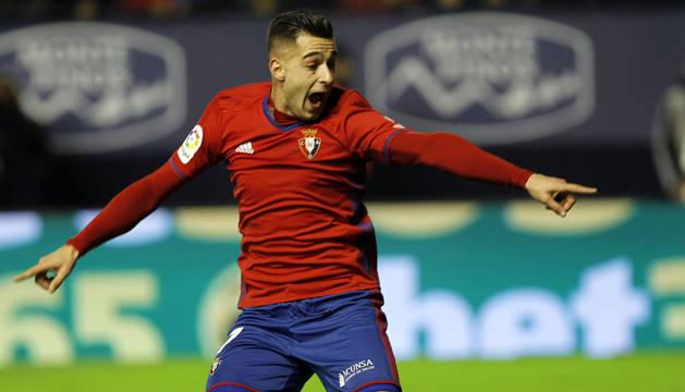 Sergio León, autor del gol