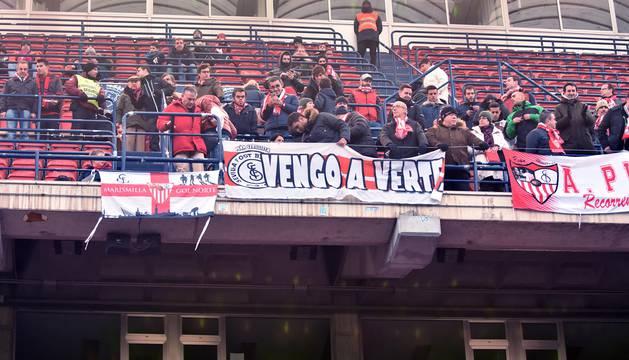 Imágenes de la grada del partido Osasuna - Sevilla
